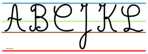 Frise majuscules cursives