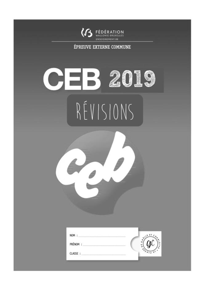 Révision CEB page de garde